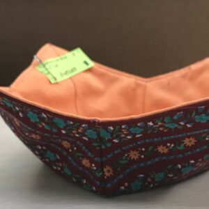 Bowl Cozy - Burgundy and Flowers 3